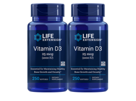 [BUNDLE] Life Extension Vitamin D3 1000 IU, 250 softgels
