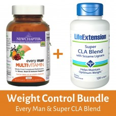 [BUNDLE] Weight Control Bundle ( New Chapter Every Man®, 72 Tablets  + Super CLA Blend )