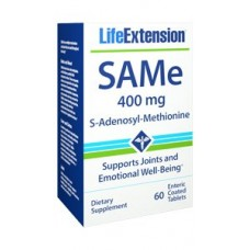 SAMe (S-Adenosyl-Methionine) 400 mg, 60 enteric coated tablets