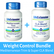 [BUNDLE] ULTIMATE Weight Control Bundle ( Life Extension Mediterranean Trim with Sinetrol™-XPur , 60 vegetarian capsules + Super CLA Blend )