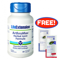 [Free Pernaton Sachets] Life Extension ArthroMax® Herbal Joint Formula, 60 vege caps