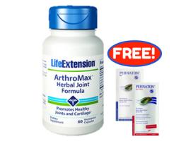 [Free Pernaton Sachets] Life Extension ArthroMax® Herbal Joint Formula, 60 vege caps
