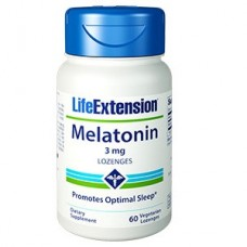 Life Extension Melatonin Lozenges 3mg, 60 lozenges (Expiry May 2018)