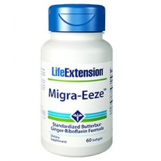 Life Extension Migra-Eeze™ Standardized Butterbur-Ginger-Riboflavin Formula, 60 softgels (Expiry Jun 2018)