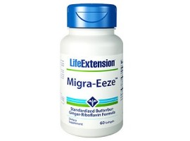 Life Extension Migra-Eeze™ Standardized Butterbur-Ginger-Riboflavin Formula, 60 softgels (Expiry Jun 2018)