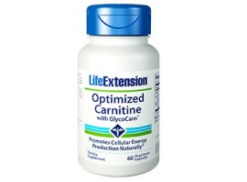 Life Extension Optimized Carnitine with GlycoCarn®, 60 vege caps (Expiry Jul 2018)