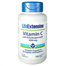 Life Extension Vitamin C and Bio-Quercetin Phytosome, 1000 mg, 250 vegetarian tablets