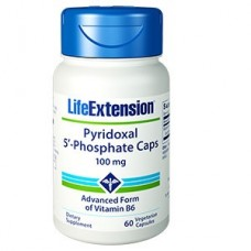 Life Extension Pyridoxal 5′-Phosphate Caps 100 mg, 60 vege caps (Expiry Jul 2018)