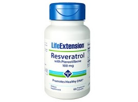 Life Extension Resveratrol with Pterostilbene 100mg, 60 vege caps