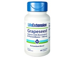 Life Extension Grapeseed Extract with Resveratrol & Pterostilbene 100mg, 60 vege caps (Expiry Nov 2018)