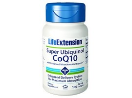 Life Extension Super Ubiquinol CoQ10 with Enhanced Mitochondrial Support™ 50 mg, 100 softgels