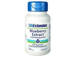 Life Extension Blueberry Extract with Pomegranate, 60 vege caps