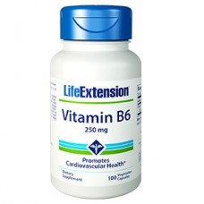 Life Extension Vitamin B6 250mg, 100 vege capsules (Expiry Jul 2019)
