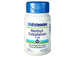 Life Extension Methylcobalamin Lozenges 5 mg, 60 lozenges (Expiry Sept 2018)