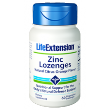 Life Extension Zinc Lozenges, 60 vegetarian lozenges (Expiry Jul 2019)