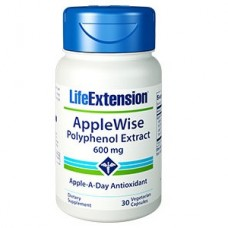 Life Extension AppleWise Polyphenol Extract 600 mg, 30 vege caps (Expiry Jul 2018)
