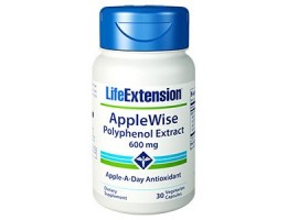 Life Extension AppleWise Polyphenol Extract 600 mg, 30 vege caps (Expiry Nov 2018)