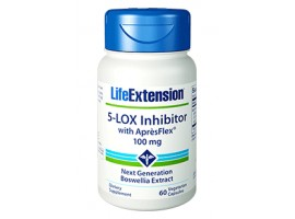 Life Extension 5-LOX Inhibitor with AprèsFlex 100 mg, 60 vege caps (Expiry Jun 2018)