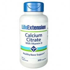 Life Extension Calcium Citrate with Vitamin D, 300 vege capsules