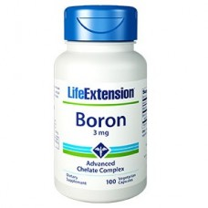 Life Extension Boron 3mg, 100 vegetarian capsules (Expiry Oct 2019)