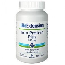Life Extension Iron Protein Plus 300mg, 100 capsules (Expiry Feb 2020)
