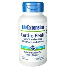 Life Extension Cardio Peak™ with Standardized Hawthorn and Arjuna, 120 vege capsules (Expiry Mar 2019)