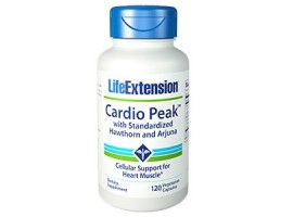 Life Extension Cardio Peak™ with Standardized Hawthorn and Arjuna, 120 vege capsules (Expiry Jul 2018)