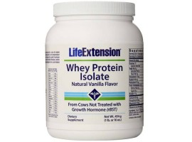 Life Extension Whey Protein Isolate (Natural Vanilla Flavor), 454 grams
