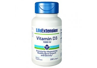 Life Extension Vitamin D3 1000 IU, 250 softgels (Expiry Nov 2019)