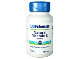 Life Extension Natural Vitamin E 400IU, 100 softgels