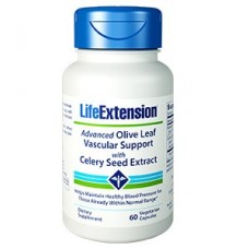 Life Extension Advanced Olive Leaf Vascular Support with Celery Seed Extract, 60 vege caps (Expiry Nov 2018)