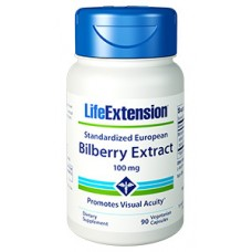 Life Extension Standardized European Bilberry Extract 100 mg, 90 vege caps (Expiry Feb 2019)