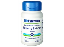 Life Extension Standardized European Bilberry Extract 100 mg, 90 vege caps (Expiry Oct 2018)