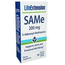 Life Extension SAMe (S-Adenosyl-Methionine) 200 mg, 30 enteric coated tablets