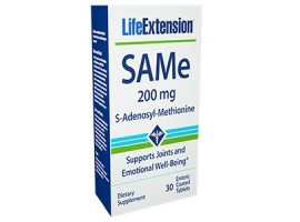 Life Extension SAMe (S-adenosylmethionine) 200mg, 30 enteric coated tablets