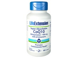 Life Extension Super-Absorbable CoQ10 Ubiquinone with d-Limonene 100 mg, 100 softgels