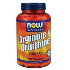 NOW Arginine 500mg / Ornithine 250mg, 250 capsules