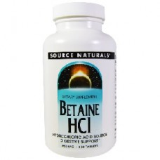 Source Naturals Betaine HCL 650 mg, 180 Tablets