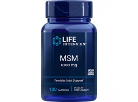 Life Extension MSM (Methylsulfonylmethane) 1000mg, 100 capsules