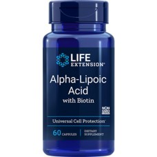 Life Extension Alpha Lipoic Acid with Biotin 250mg, 60 capsules