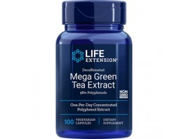 Life Extension Mega Green Tea Extract (Decaffeinated), 100 vegetarian capsules