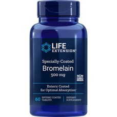Life Extension Specially-Coated Bromelain, 60 enteric coated tablets