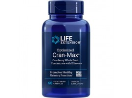 Life Extension Optimized Cran-Max® Cranberry Whole Fruit Concentrate with Ellirose™, 60 vege caps