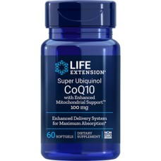 Life Extension Super Ubiquinol CoQ10 with Enhanced Mitochondrial Support™ 100 mg, 60 softgels