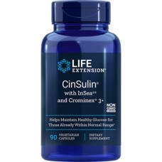 Life Extension CinSulin® with InSea2™ and Crominex® 3+, 90 vege caps