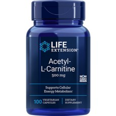Life Extension Acetyl-L-Carnitine 500 mg, 100 vege caps