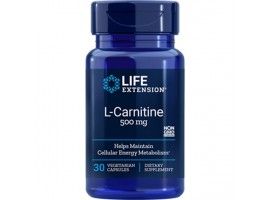 Life Extension L-Carnitine 500mg, 30 vege capsules