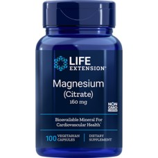 Life Extension Magnesium Citrate 160mg, 100 vege capsules