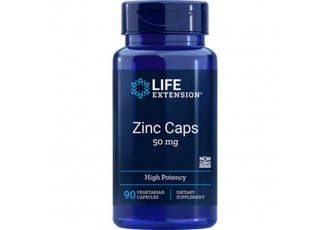 Life Extension Zinc Caps High Potency 50 mg, 90 vegetarian capsules