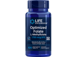 Optimized Folate (L-Methylfolate) 1700 mcg DFE, 100 vegetarian tablets
